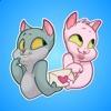 Два Забавных Кота Стикеры