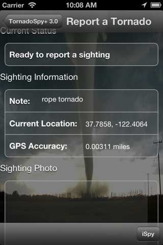 TornadoSpy+: Tornado Maps, Warnings and Alerts screenshot 2