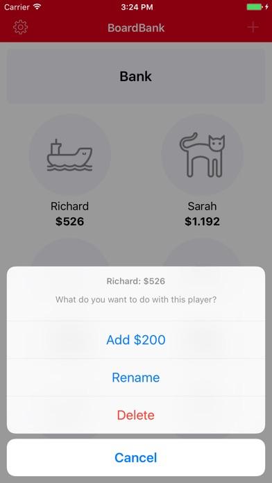 BoardBank - Geld-Manager für Brettspiele Screenshot