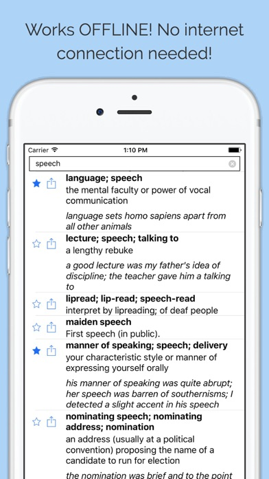 English Thesaurus & Synonyms Dictionary OFFLINE on the App Store