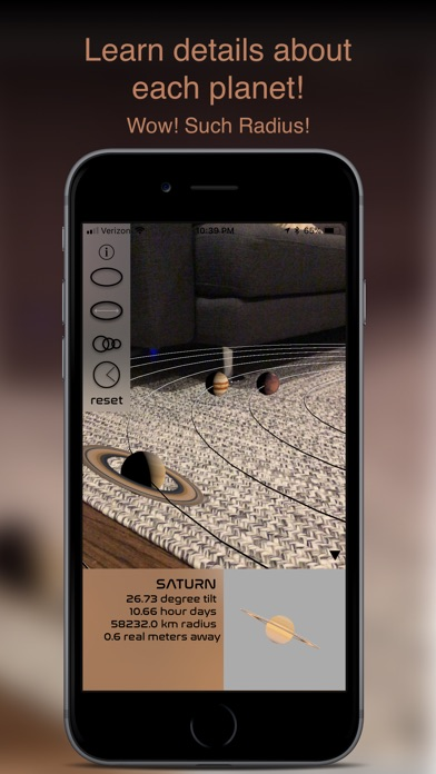 Augmented Reality Solar System Screenshot