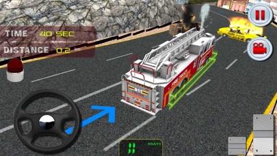 911緊急救助消防車運転シミュレータのスクリーンショット2