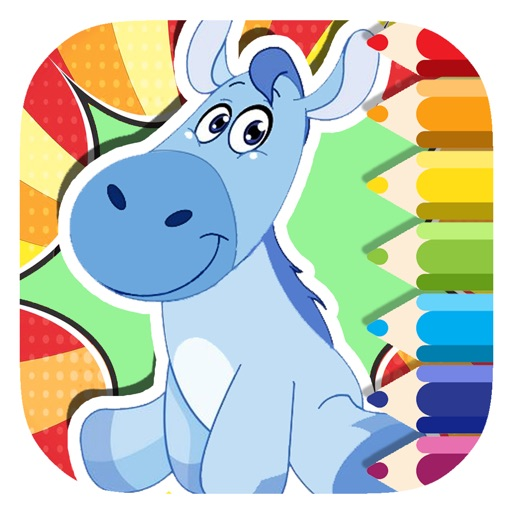 Donkey Coloring Book Page Game For Kids Edition iOS App