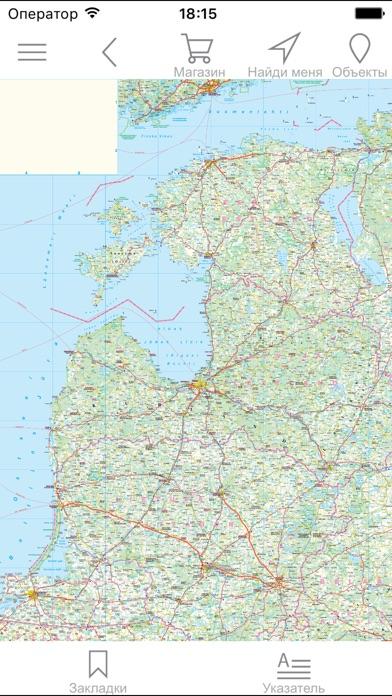 Прибалтика. Автодорожная карта.Скриншоты 1