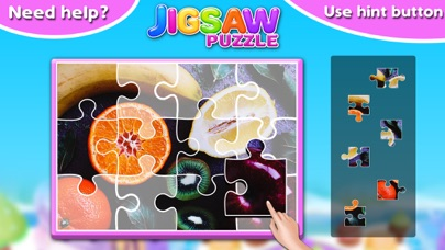 Screenshot #8 for Fruits & Vegetables Jigsaw Puzzle - Fun With Foods