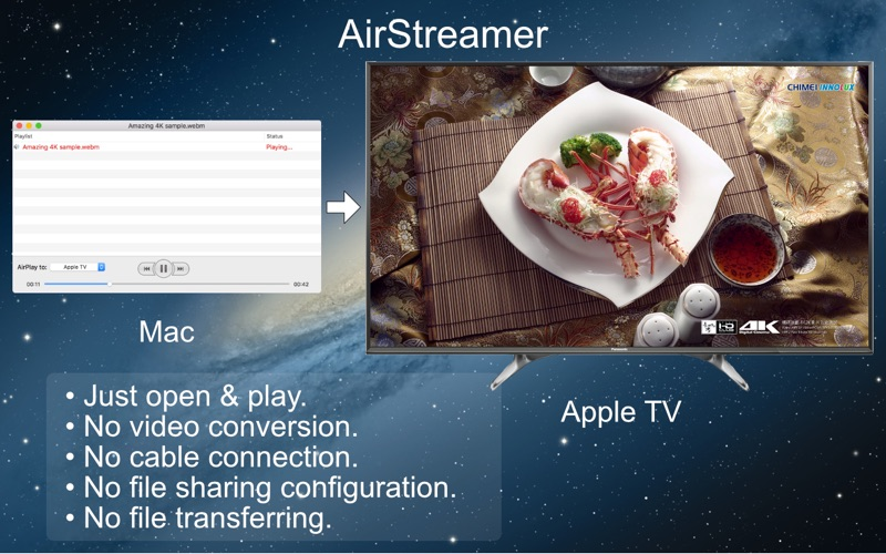 AirStreamer - for Apple TV Screenshots