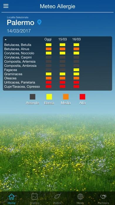 Meteo Allergie (ai pollini) Screenshot