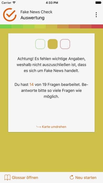 Fake News Check Screenshot