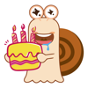 Small Snail Animated Emoji Stickers