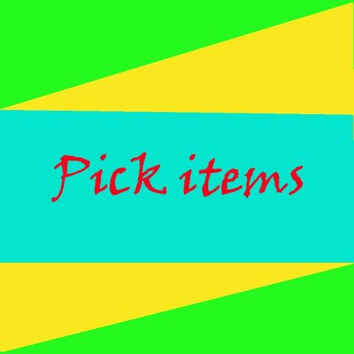 Pick items iOS App