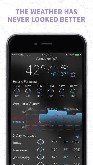 Screenshots of MyRadar Pro NOAA Weather Radar, Forecasts & Storms for iPhone