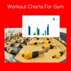 Workout charts for gym