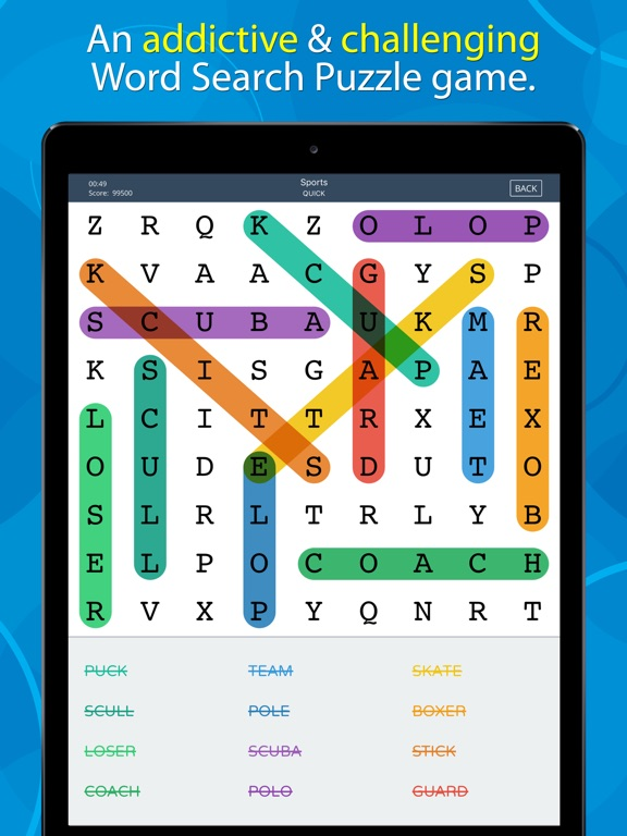 Word search puzzle game rjs on the app store for Picture search app for iphone