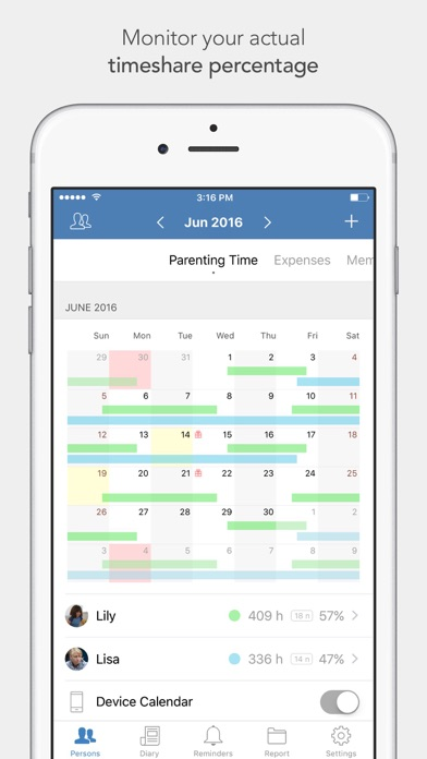 Alimentor - Child Custody Tracker Screenshot