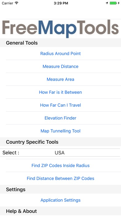 Free Map Tools On The App Store - Elevation finder app
