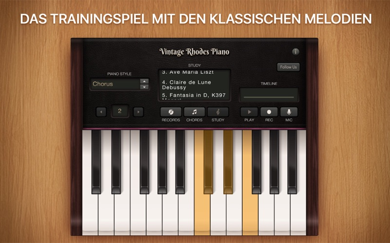 Vintage Rhodes Piano Screenshot