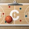 バスケットボールコーチのクリップボード