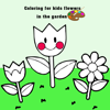 Coloring for kids flowers in the garden Wiki