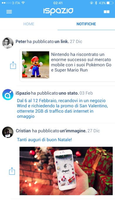 Screenshot of iSpazio3