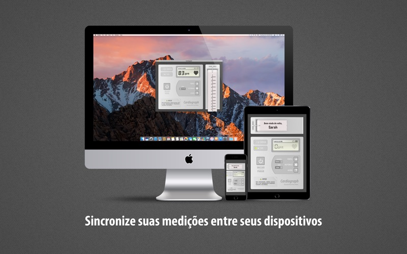 Screenshot do app Cardiógrafo (Cardiograph)