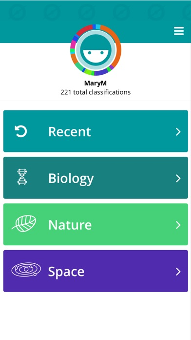 Screenshot 0 for Zooniverse's iPhone app'
