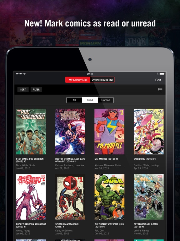 Marvel Unlimited Comics Screenshot