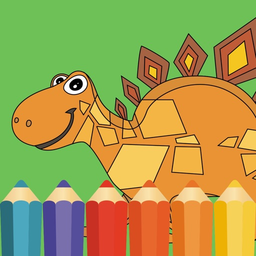 Dinosaur Coloring Book Dino Baby Drawing for Kids iOS App
