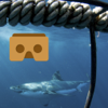 VR Hungry Shark Cage with Google Cardboard