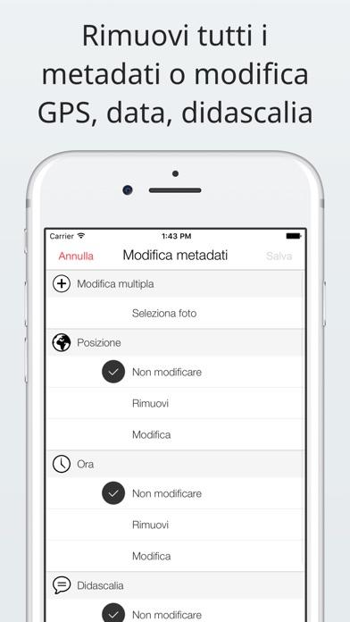 Screenshot of Investigatore foto: visualizza, modifica, rimuovi2