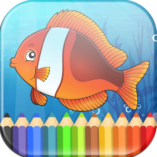 Sea Animals Coloring Book - Fun Painting for Kids iOS App