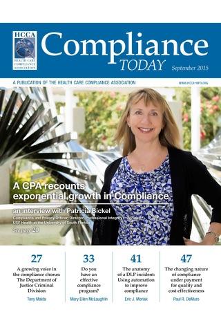 HCCA Compliance Today Magazine screenshot 1