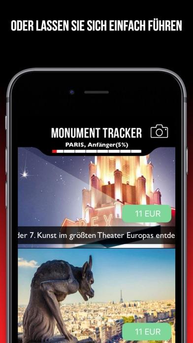 Paris Reiseführer Monument Tracker - offline Karte Screenshot