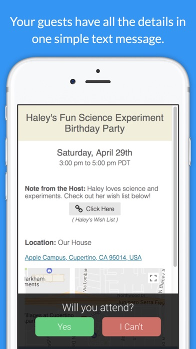 Invitd Invitation Maker Rsvp By Text Message On The App Store