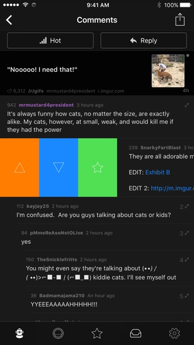 Submarine —Powerful Reddit App Screenshots
