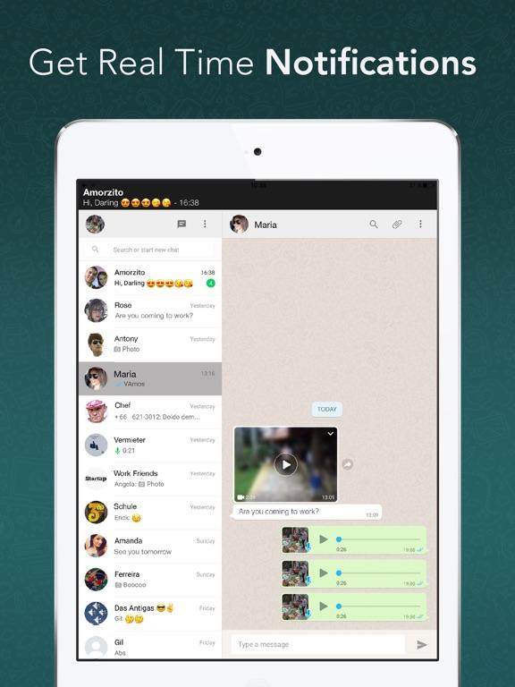 Screenshot #3 for Messenger for WhatsApp - App for iPad