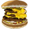 Hamburger Two Sticker Pack
