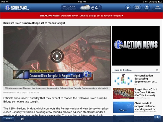 6ABC Philadelphia: News, Weather, Traffic por ABC Digital