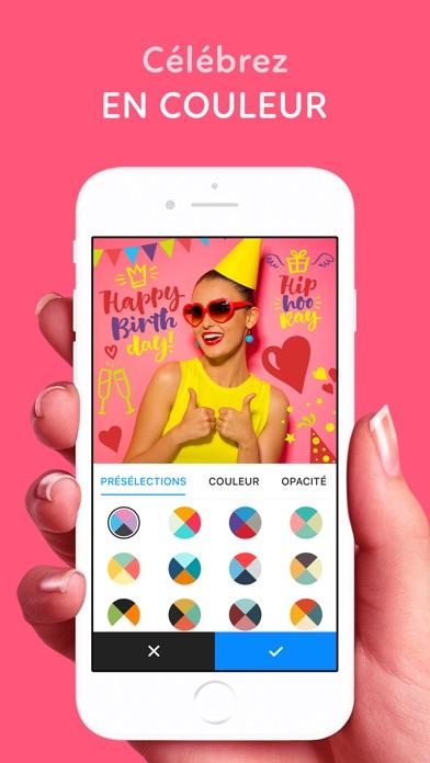 Screenshot ADDY: ajouter texte et images sur photo