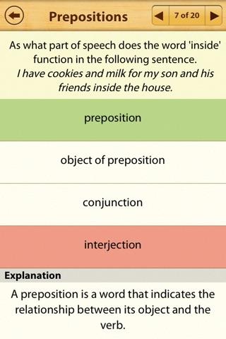 Grammar Express: Parts of Speech Lite screenshot 4