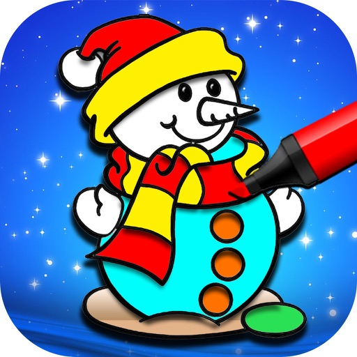 Kids Christmas Coloring Pages - Christmas Game iOS App