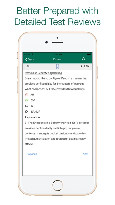 Screenshot for CISSP Tests -- (ISC)² OFFICIAL in United States App Store