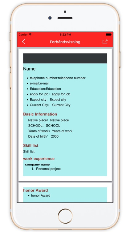Resume Builder Pro - the Helper of Job Search by Yanhong Fang