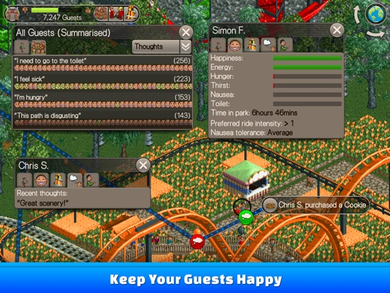 RollerCoaster Tycoon® Classic IPA Cracked for iOS Free Download