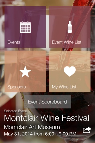 Winevento - the wine event app screenshot 1