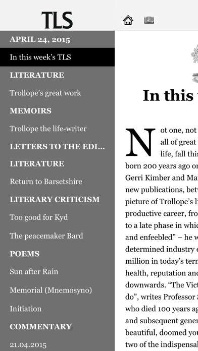 The Times Literary Supplement review screenshots