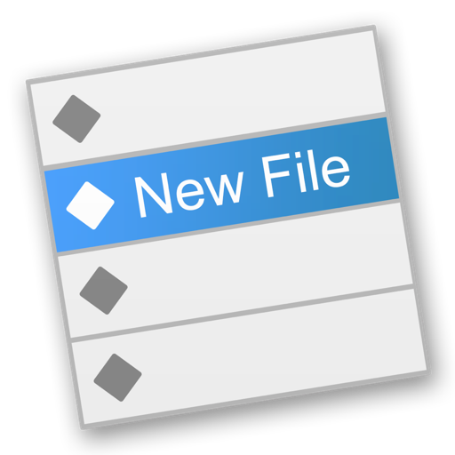 New File Menu