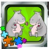 puzzle Hallie Hippo animals jigsaw educational