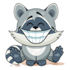 Emoji Cartoon Raccoon Cub Stickers Wiki