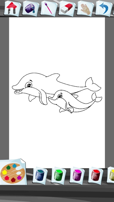 iphone screenshot 3 - Dolphin Coloring Book