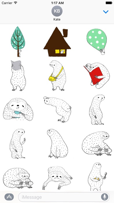 download Lazy Sloth In Winter Sticker apps 2